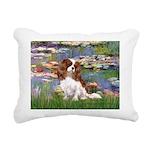 3-MP-LILIES 2-CAV2B Rectangular Canvas Pillow