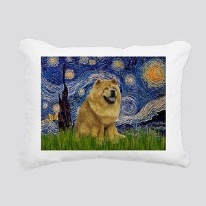 5.5x7.5-Starry-Chow1 Rectangular Canvas Pillow