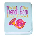 Will Play French Horn baby blanket