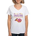 Will Play French Horn Women's V-Neck T-Shirt