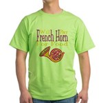 Will Play French Horn Green T-Shirt