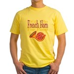 Will Play French Horn Yellow T-Shirt