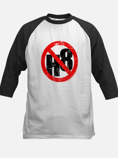 No Hate - < NO H8 > Kids Baseball Jersey
