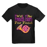 Will Play French Horn Kids Dark T-Shirt