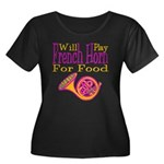 Will Play French Horn Women's Plus Size Scoop Neck