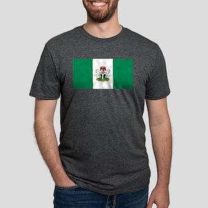 Nigeria - State Flag - Current Mens Tri-blend T-Sh