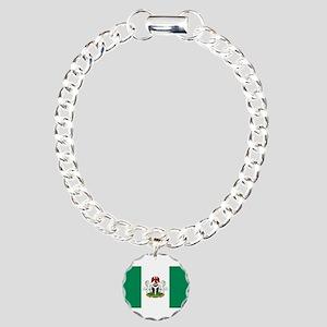 Nigeria - State Flag - Current Charm Bracelet, One