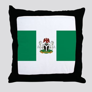 Nigeria - State Flag - Current Throw Pillow