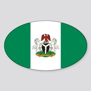 Nigeria - State Flag - Current Sticker (Oval)