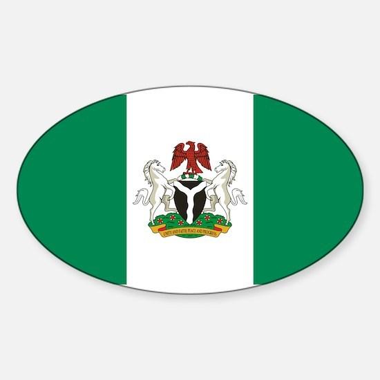 Nigeria - State Flag - Current Sticker (Oval)