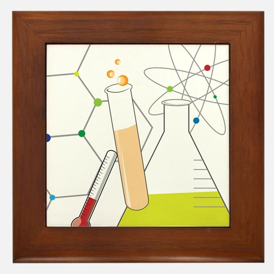 Chemistry Stuff Framed Tile