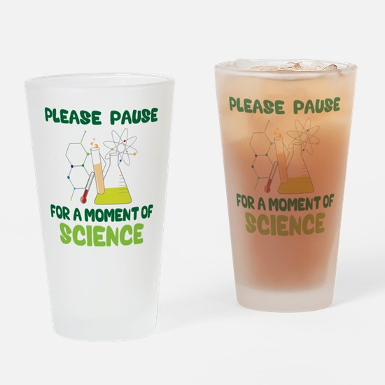 Please Pause Drinking Glass