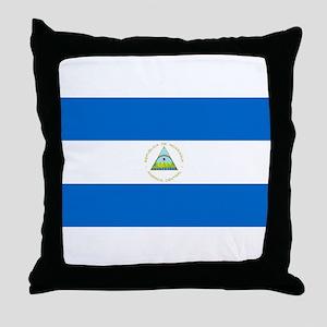 Nicaragua - National Flag - Current Throw Pillow