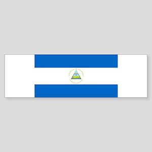 Nicaragua - National Flag - Current Sticker (Bumpe