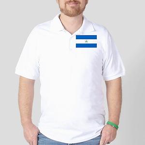 Nicaragua - National Flag - Current Golf Shirt