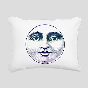 Man in the Moon Rectangular Canvas Pillow