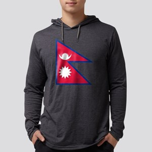 Nepal - National Flag - Current Mens Hooded Shirt