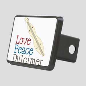 Love Peace Dulcimer Rectangular Hitch Cover