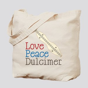 Love Peace Dulcimer Tote Bag