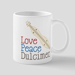 Love Peace Dulcimer Mug