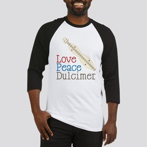 Love Peace Dulcimer Baseball Jersey