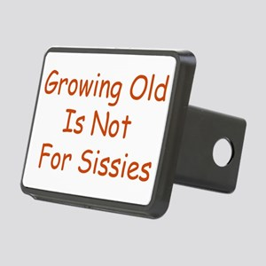 Growing Old Rectangular Hitch Cover