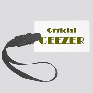 Official Geezer Large Luggage Tag