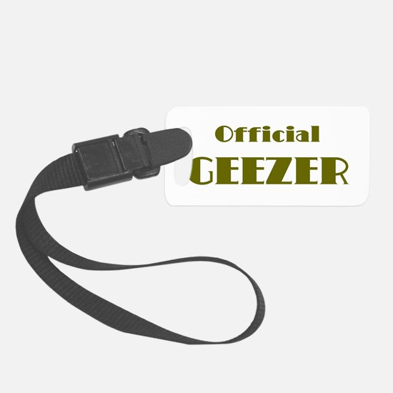Official Geezer Luggage Tag