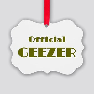Official Geezer Picture Ornament