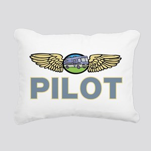 RV Pilot Rectangular Canvas Pillow