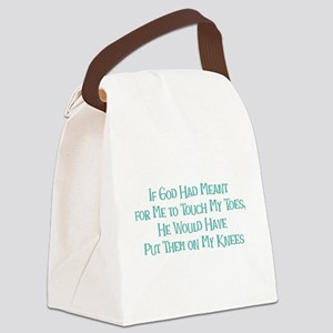 Touch my Toes Canvas Lunch Bag