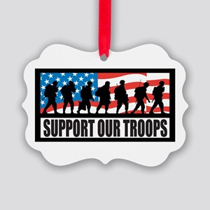 Support our troops - Infantry Picture Ornament