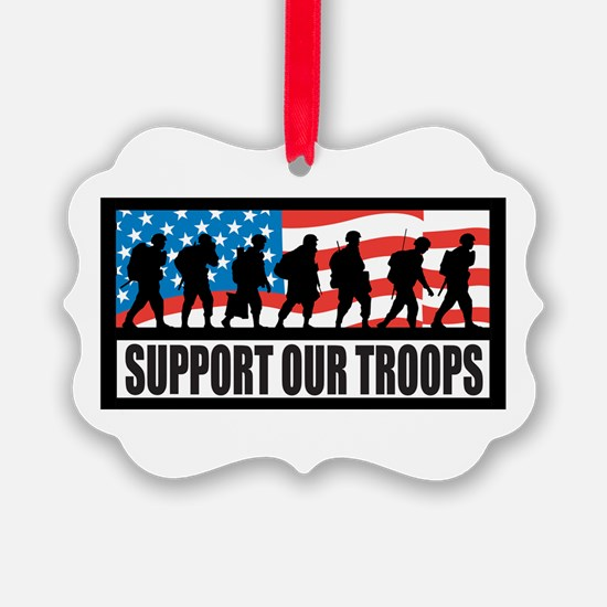Support our troops - Infantry Ornament