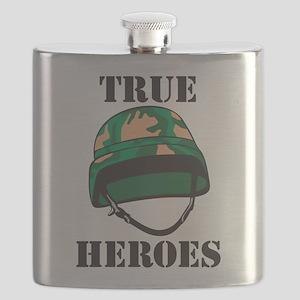 True Heros - the Marines Flask