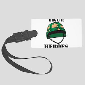 True Heros - the Marines Large Luggage Tag