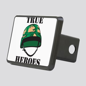 True Heros - the Marines Rectangular Hitch Cover