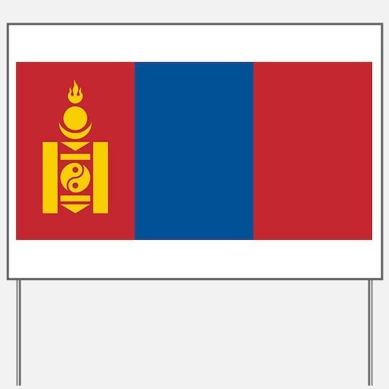 Mongolia - National Flag - Current Yard Sign