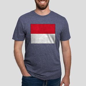 Monaco - National Flag - Current Mens Tri-blend T-