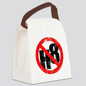 No Hate - < NO H8 > Canvas Lunch Bag