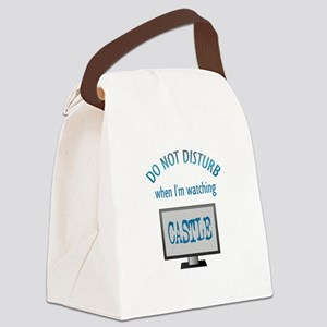 Do Not Disturb Watching Castle Canvas Lunch Bag