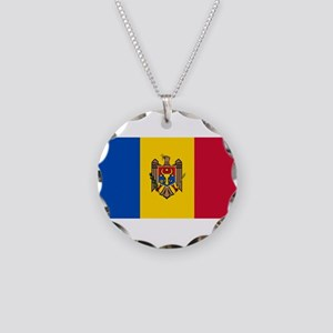 Moldova - National Flag - Current Necklace Circle