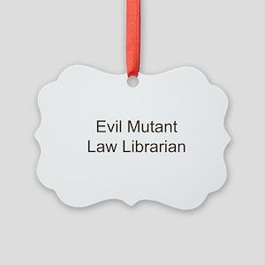 EM Law Librarian Picture Ornament