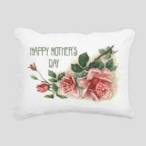 Mothers Day Roses Rectangular Canvas Pillow
