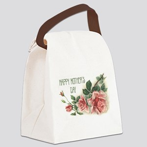 Mothers Day Roses Canvas Lunch Bag