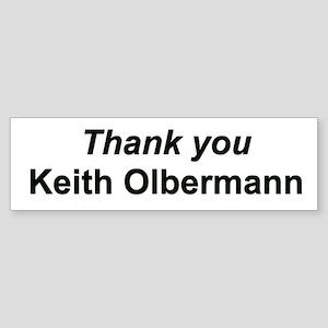 Thank you Keith Olbermann