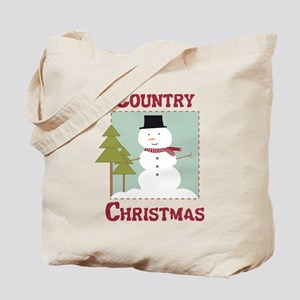 Country Christmas Tote Bag