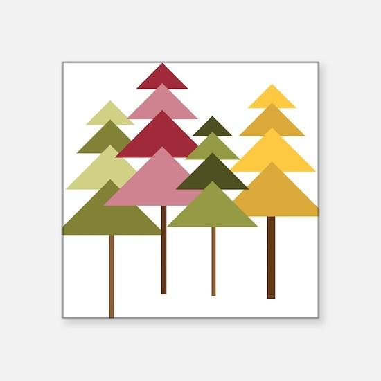 "Pine Street Square Sticker 3"" x 3"""