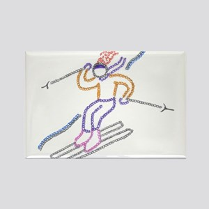 skiing Rectangle Magnet