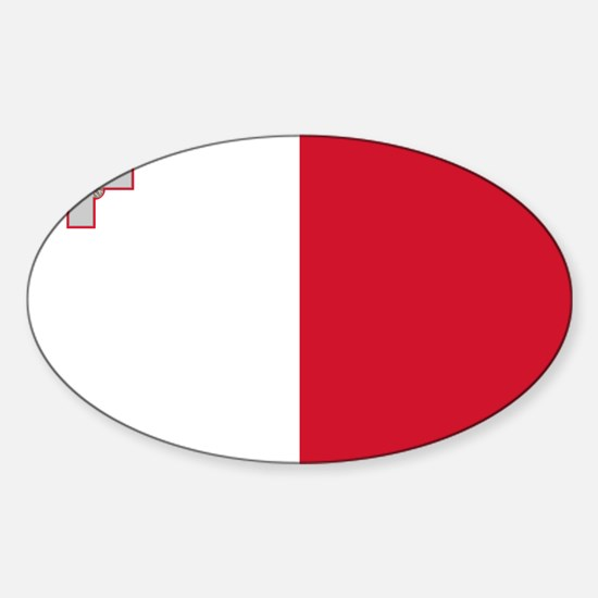 Malta - National Flag - Current Sticker (Oval)