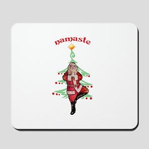 Santa Tree Pose Mousepad